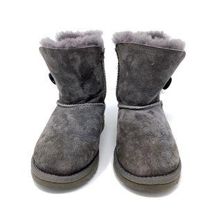 UGG Australia Bailey Button Boots Gray Grey Sz 13